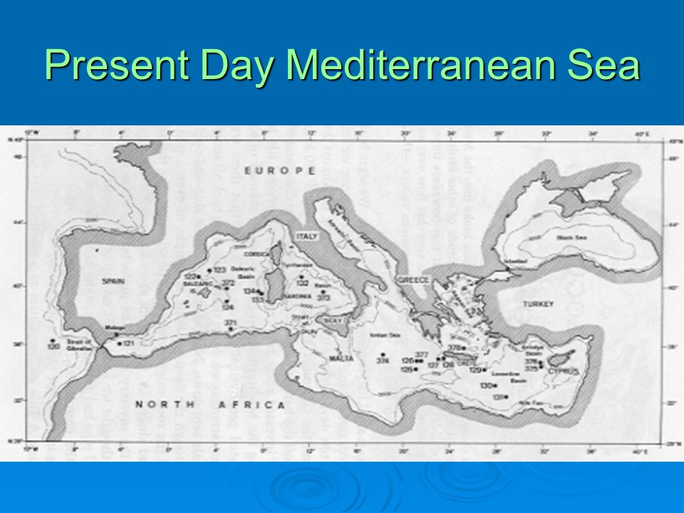 Present Day Mediterranean Sea