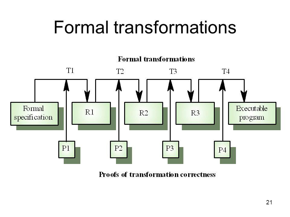 21 Formal transformations