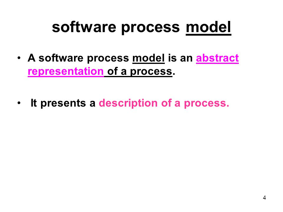 5 Generic software process models The waterfall model –Separate and distinct phases of specification and development Evolutionary development –Specification and development are interleaved Formal systems development –A mathematical system model is formally transformed to an implementation Reuse-based development –The system is assembled from existing components