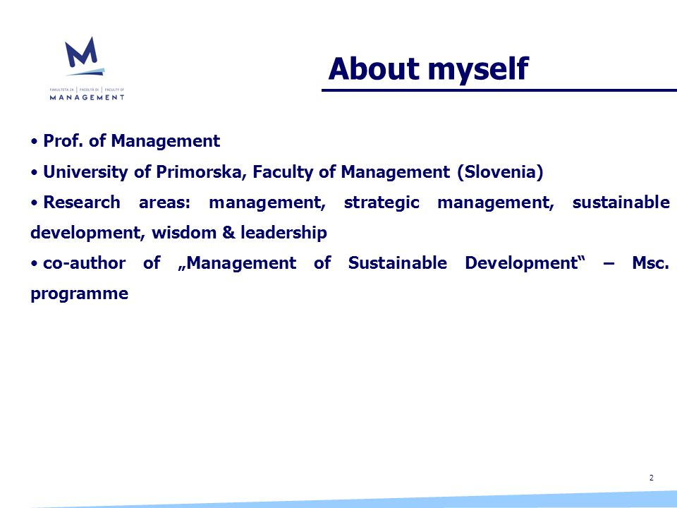 About myself 2 Prof.