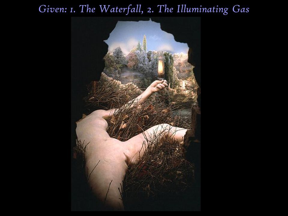 Given: 1. The Waterfall, 2. The Illuminating Gas