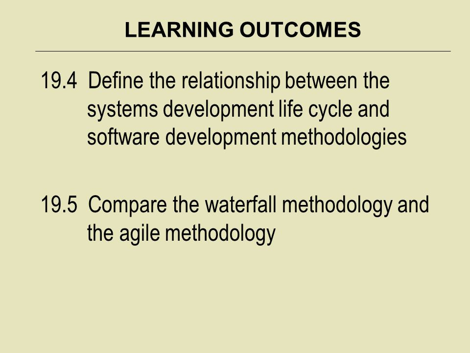 CHAPTER NINETEEN OVERVIEW Software that is built correctly can support agile organizations and can transform as the organization and its business transforms Software that effectively meets employee needs will help an organization become more productive and enhance decision making Software that does not meet employee needs may have a damaging effect on productivity and can even cause a business to fail