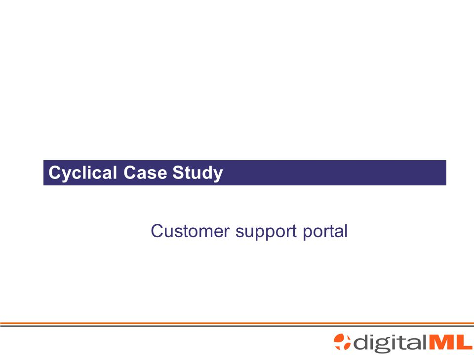 Cyclical Case Study Customer support portal