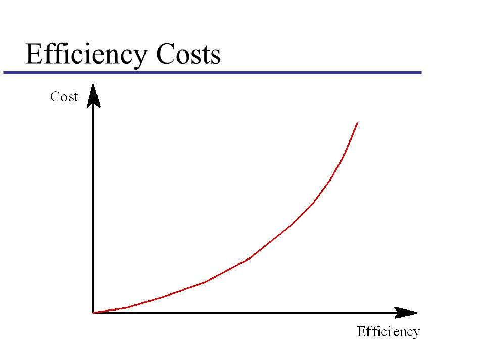 Efficiency Costs