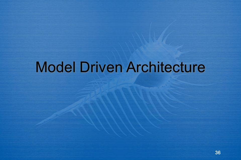 36 Model Driven Architecture