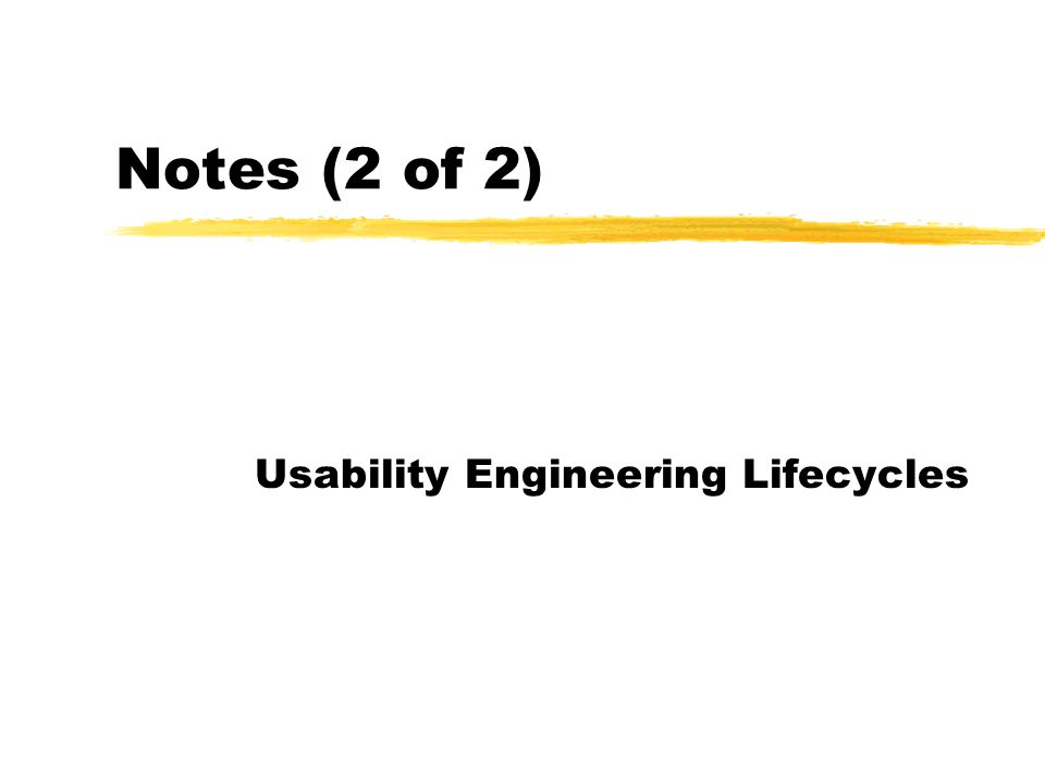 3 What This Lecture Is About 1.The problem with software today 2.Usability engineering lifecyclesUsability engineering lifecycles  Next: early analysis activities
