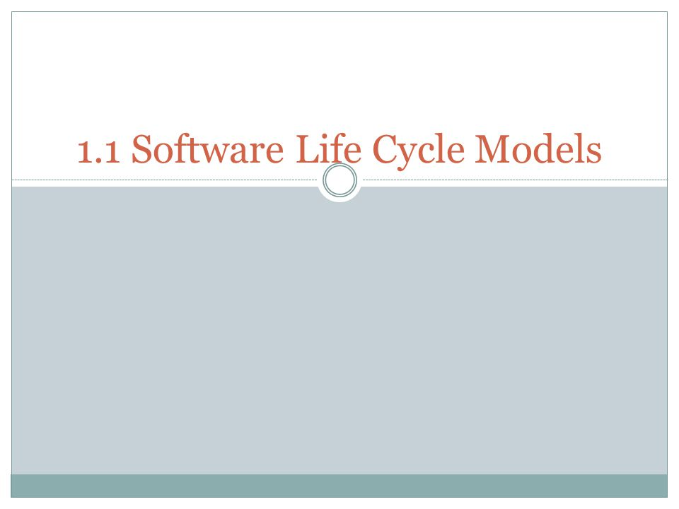 Chapter : Topic Covered About software process model Build and Fix Model Why Models are needed.
