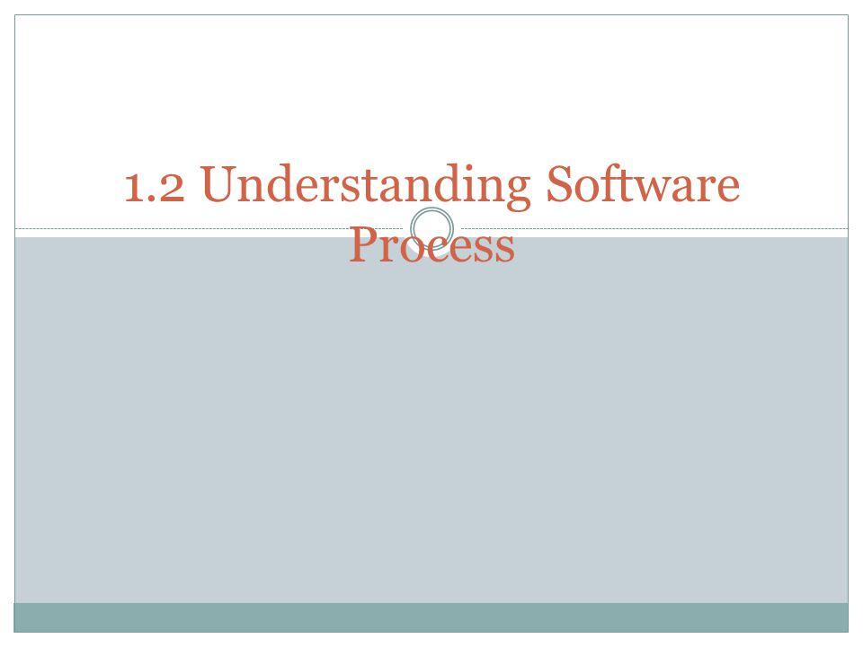 1.2 Understanding Software Process