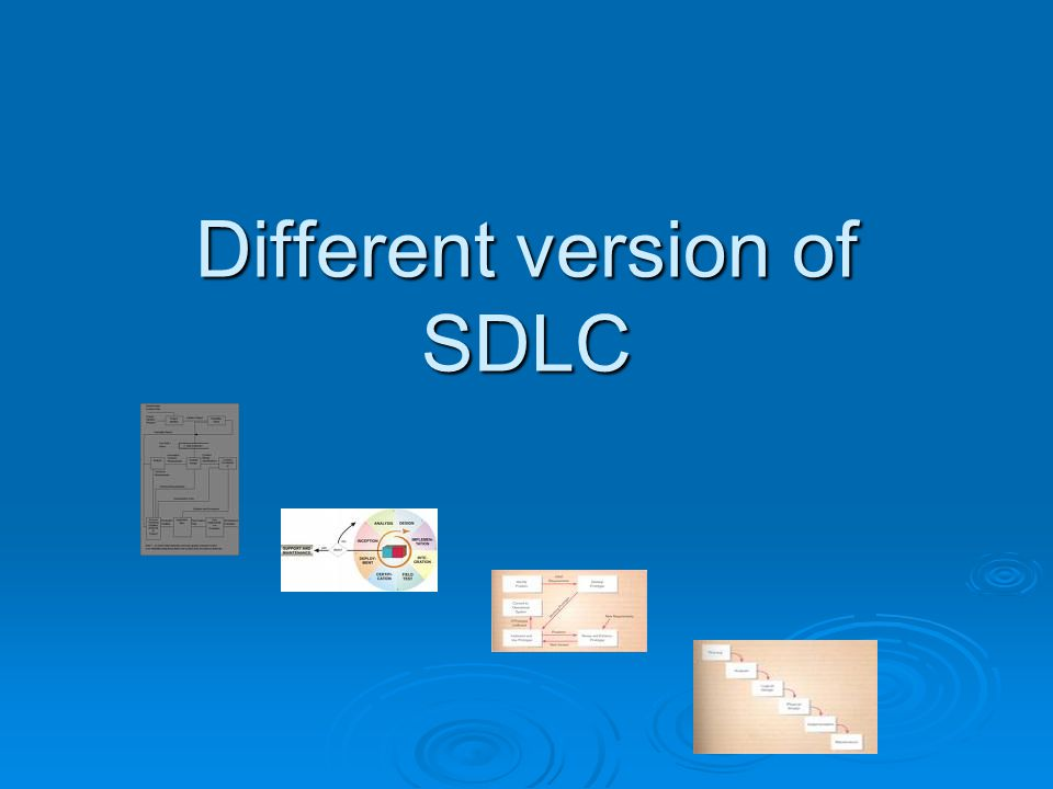 Different version of SDLC