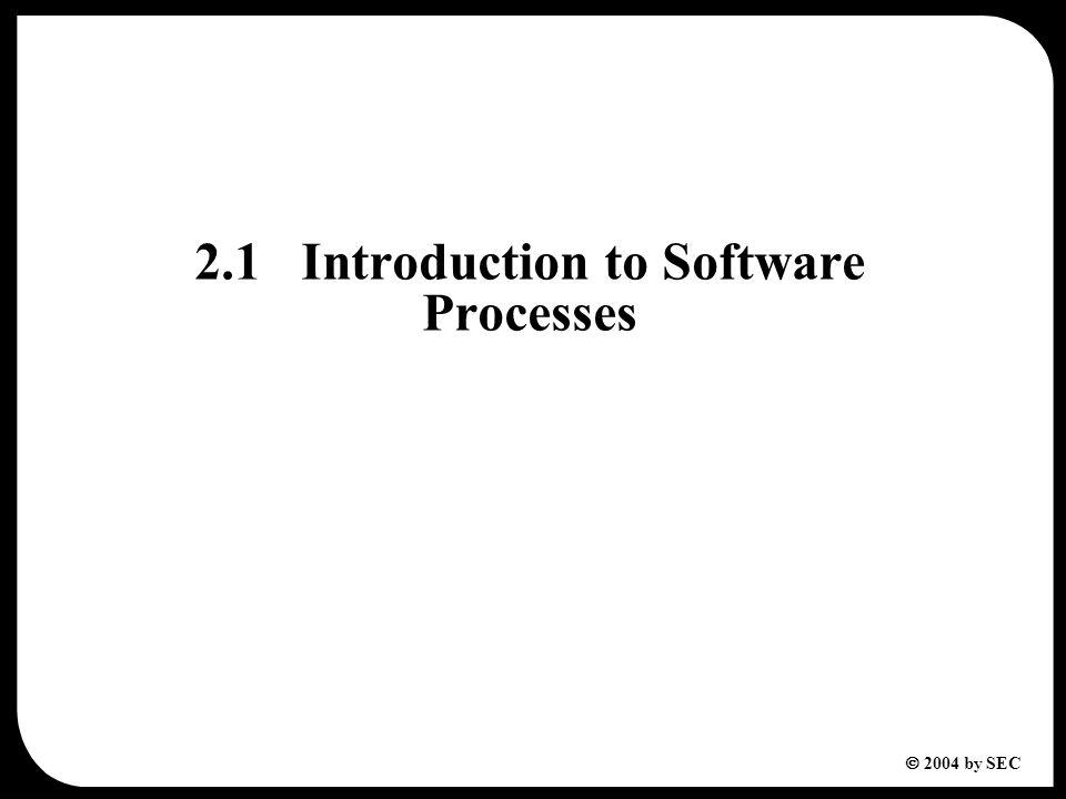  2004 by SEC 2.2Software Development Process Models
