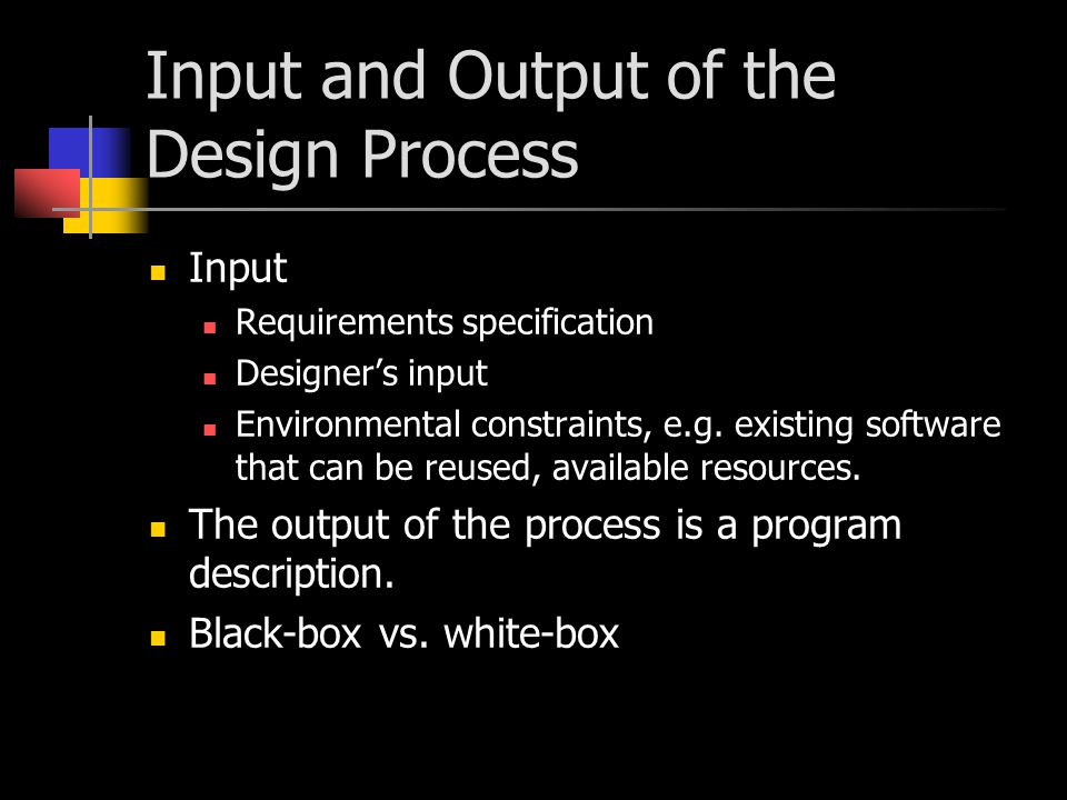 Assessing Design Quality Factors that are taken into consideration with assessing the quality of the product produced by the design include: Reliability - The final system must be complete, consistent and robust.