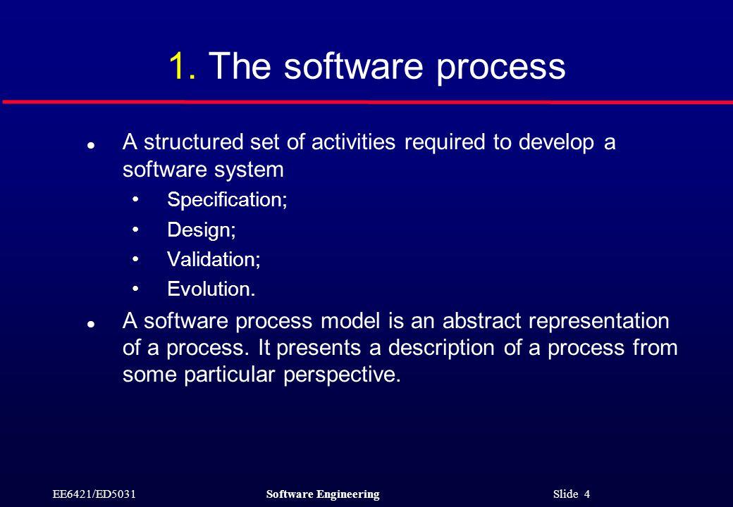 EE6421/ED5031Software Engineering Slide 4 1.