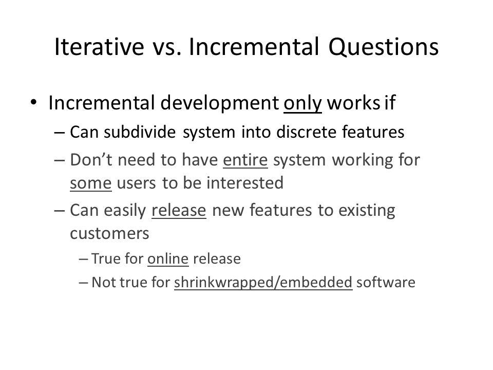 Iterative vs.