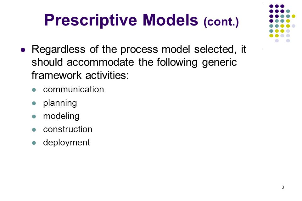 14 The Spiral Model Originally proposed by Boehm Emphasize on risk management Using this model, software is developed in a series of evolutionary releases The spiral model can be adapted to apply throughout the life of the software It is a realistic model to the development of large-scale systems