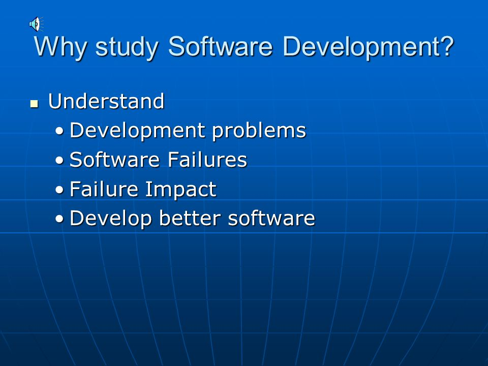 A definition of the software development: The application of a systemic, disciplined, quantifiable approach to development, operation, and maintenance