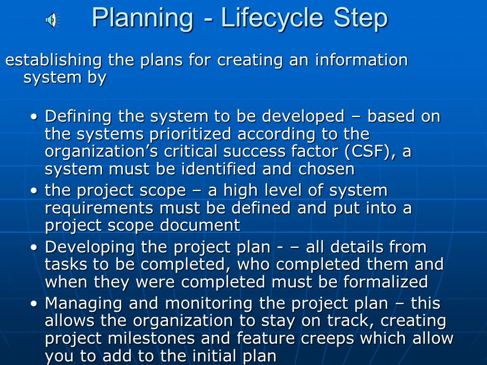 Software Development Lifecycle Steps Planning Planning Analysis Analysis Design Design Development Development Testing Testing Deployment Deployment M