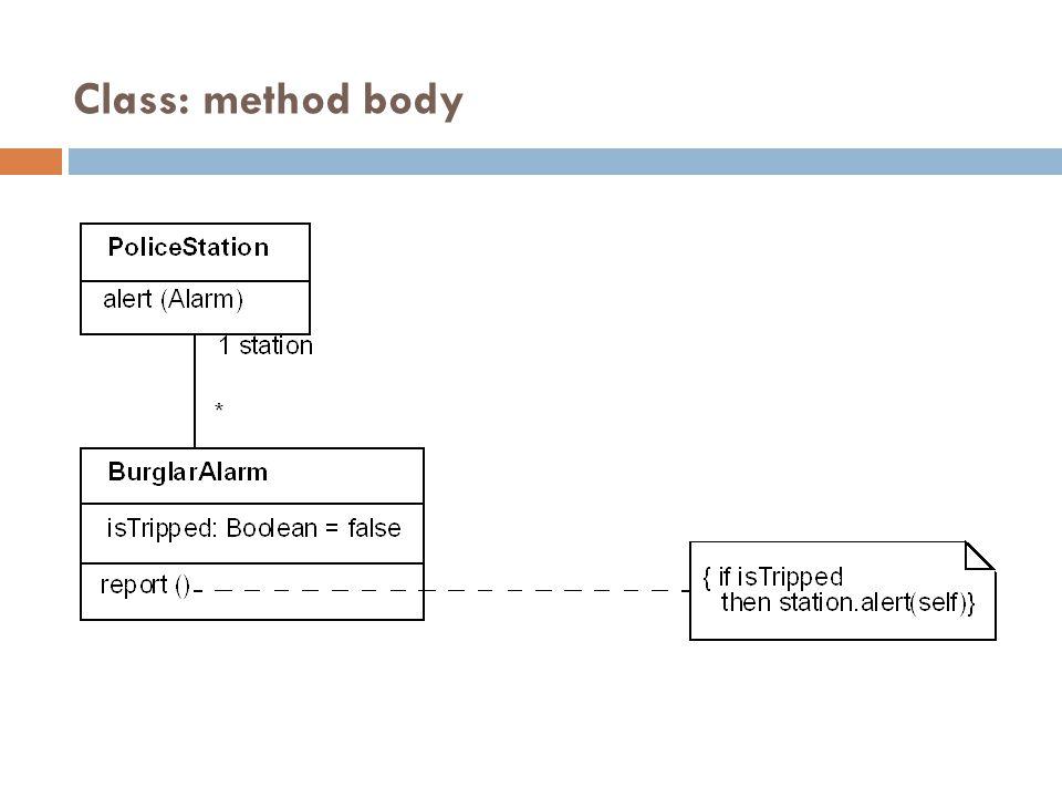 Class: method body 29