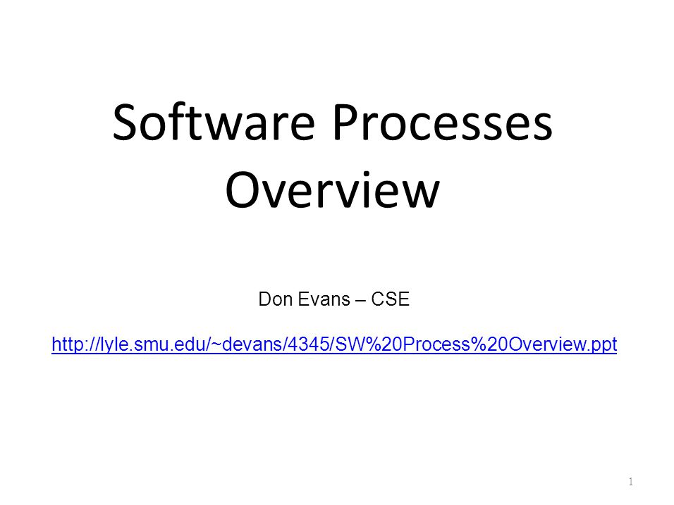 The Software Development Process A structured set of activities required to develop a software system – Specification; – Design; – Implementation; – Validation; – Evolution.