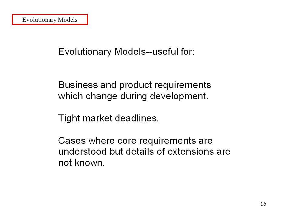 16 Evolutionary Models