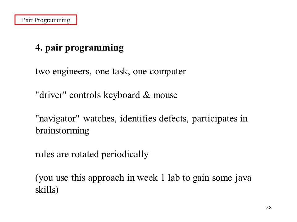 28 Pair Programming 4.