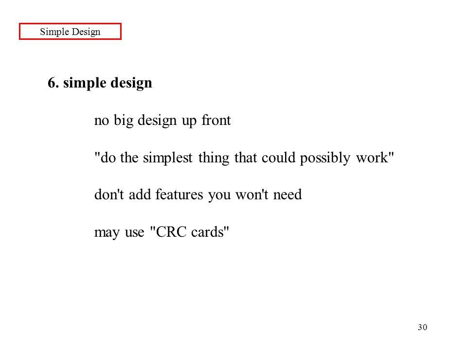30 Simple Design 6.