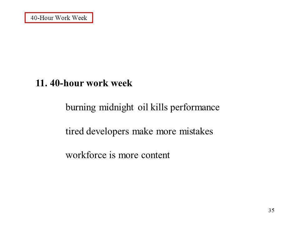 35 40-Hour Work Week 11.