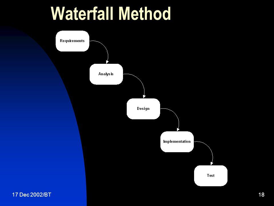 17 Dec 2002/BT18 Waterfall Method