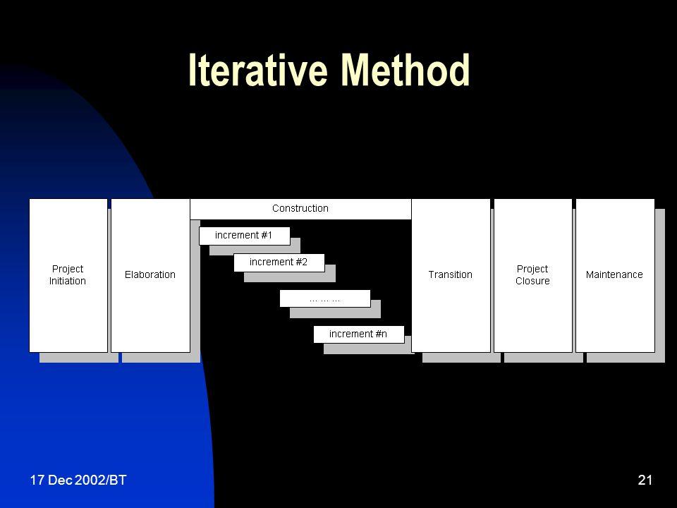 17 Dec 2002/BT21 Iterative Method