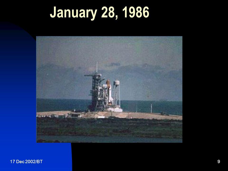17 Dec 2002/BT9 January 28, 1986