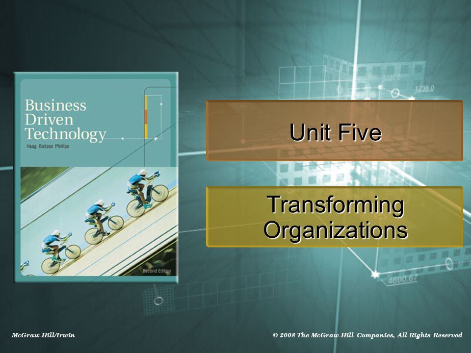 McGraw-Hill/Irwin © 2008 The McGraw-Hill Companies, All Rights Reserved Unit Five Transforming Organizations