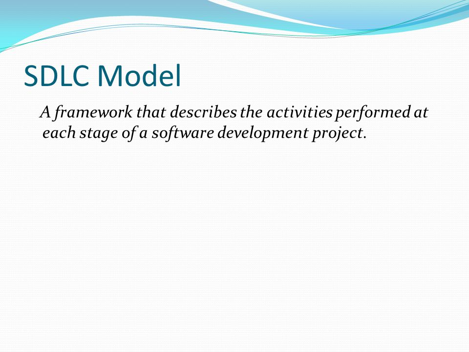 Incremental SDLC Model Construct a partial implementation of a total system Then slowly add increased functionality The incremental model prioritizes requirements of the system and then implements them in groups.