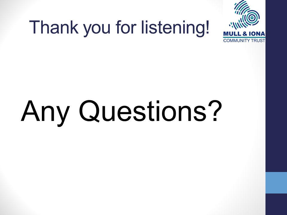Thank you for listening! Any Questions