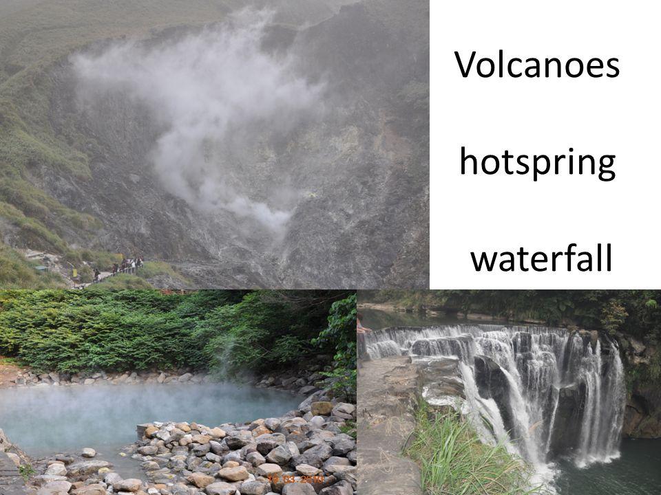 Volcanoes hotspring waterfall