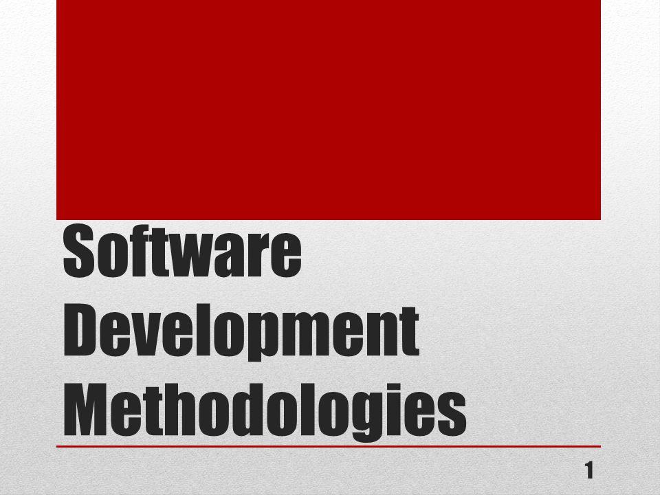 Software Development Methodologies 1