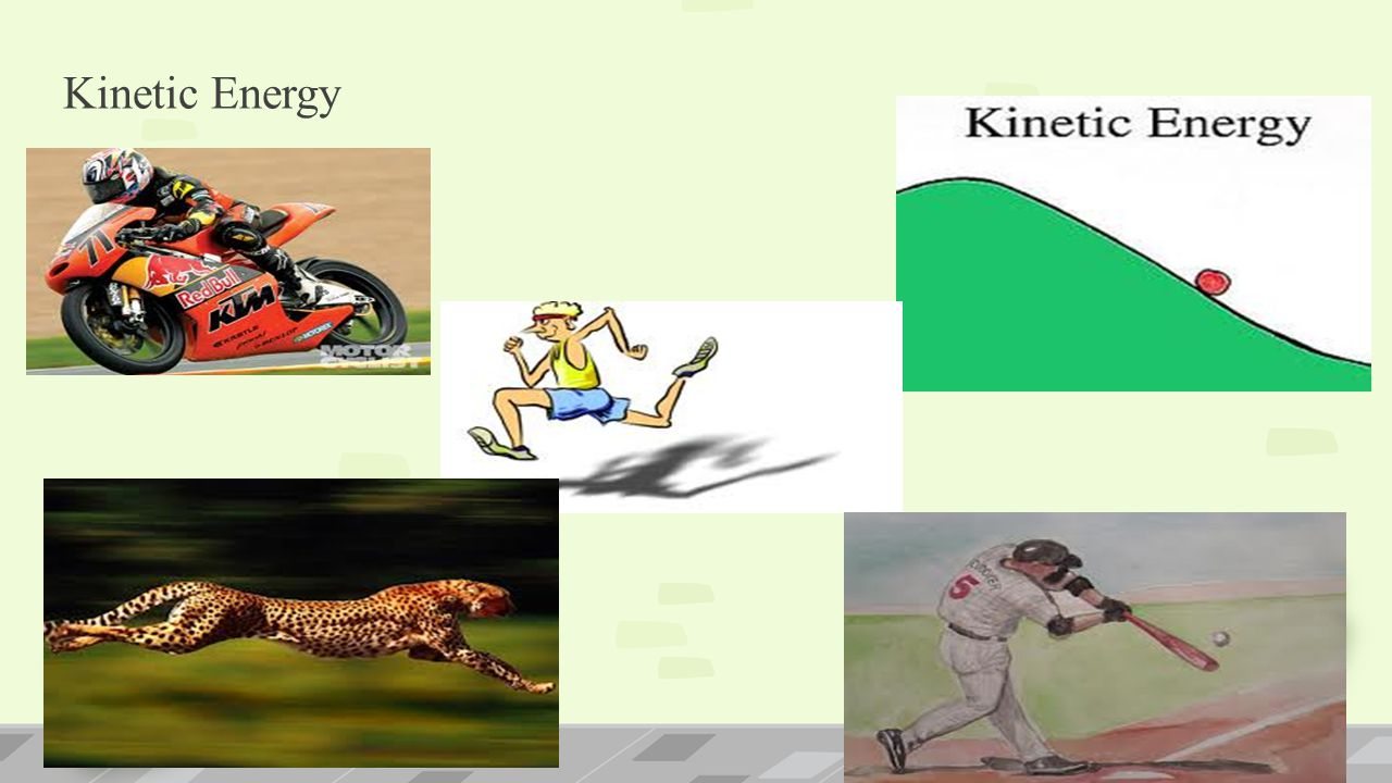 Examples of Kinetic Energy… Shooting a rubber band.