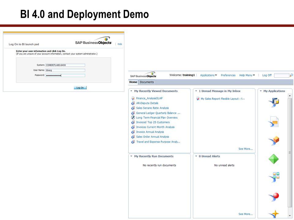 46 BI 4.0 and Deployment Demo