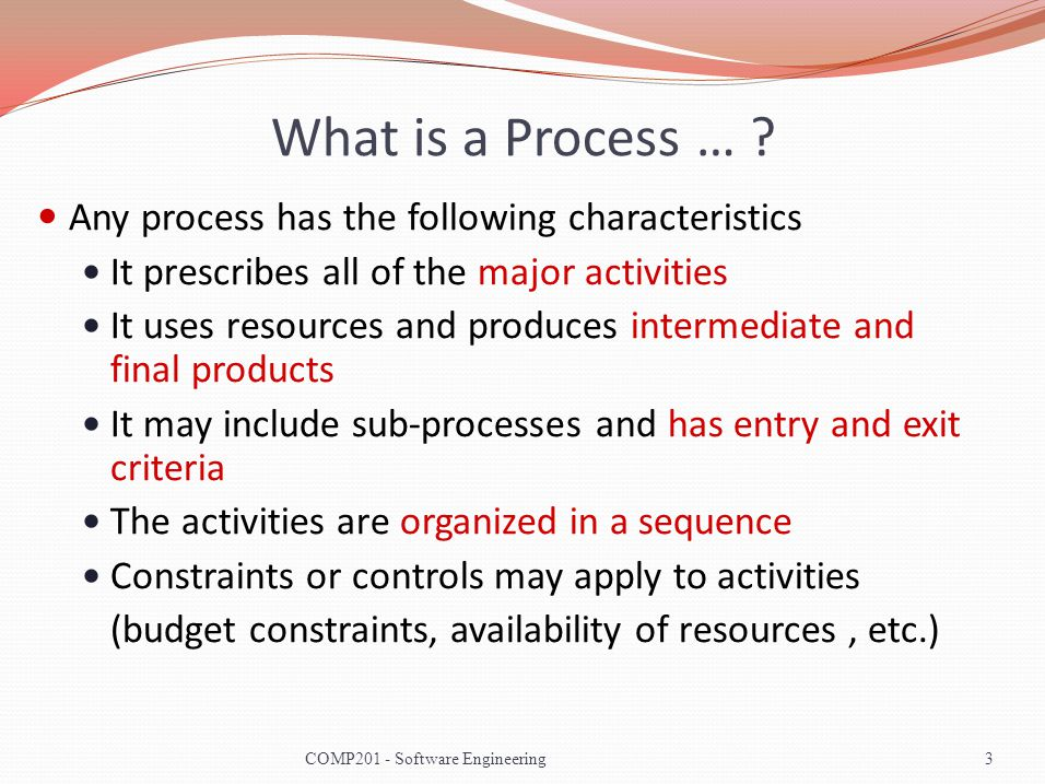 What is a Process … .
