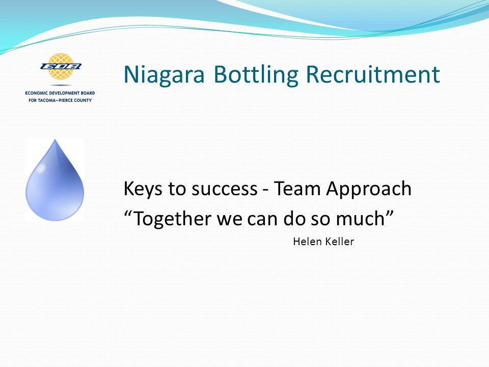 Niagara Bottling Recruitment Visit from broker & company COM involved BIG Company Meeting