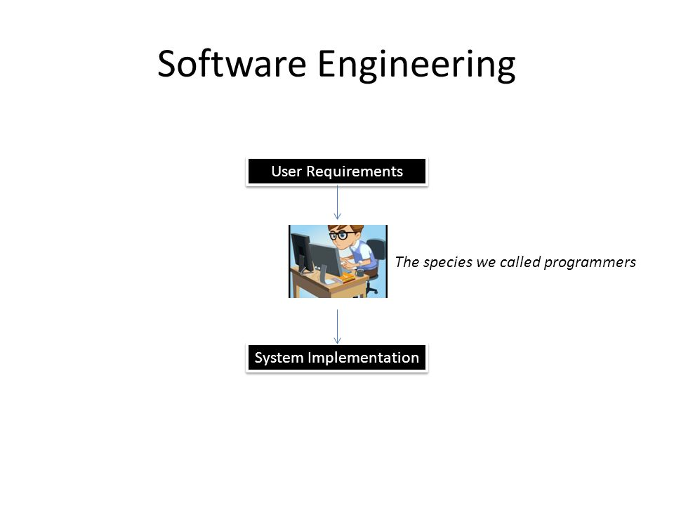 Software Engineering User Requirements System Implementation The species we called programmers