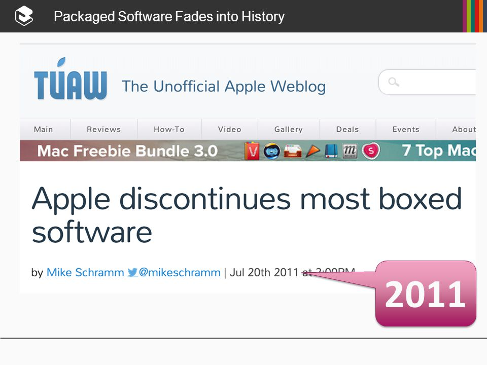 Packaged Software Fades into History 2011