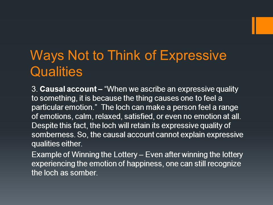 Ways Not to Think of Expressive Qualities 3.