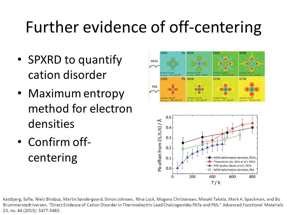 Further evidence of off-centering Kastbjerg, Sofie, Niels Bindzus, Martin Søndergaard, Simon Johnsen, Nina Lock, Mogens Christensen, Masaki Takata, Mark A.