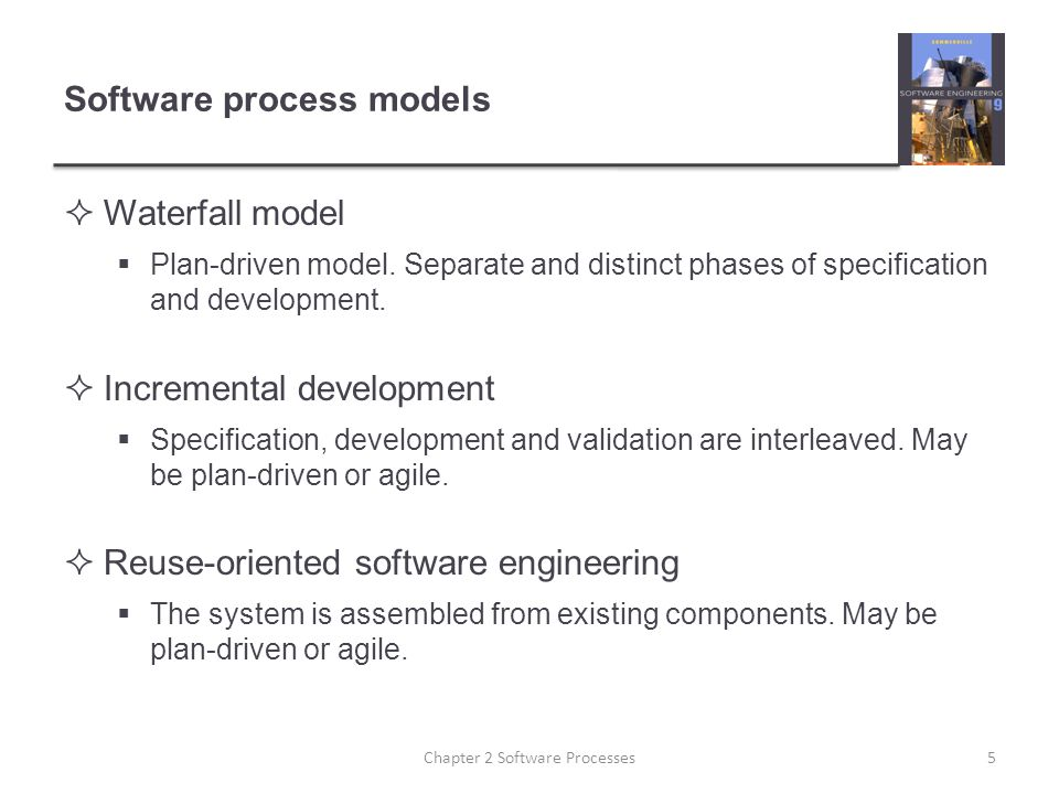 Software process models  Waterfall model  Plan-driven model.