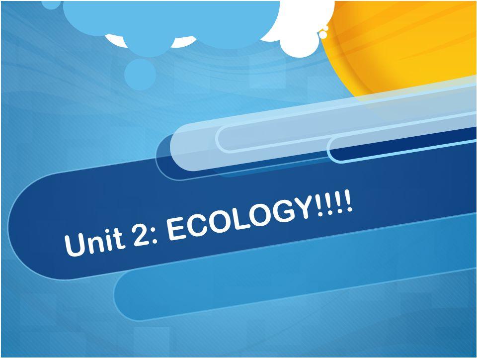 Unit 2: ECOLOGY!!!!