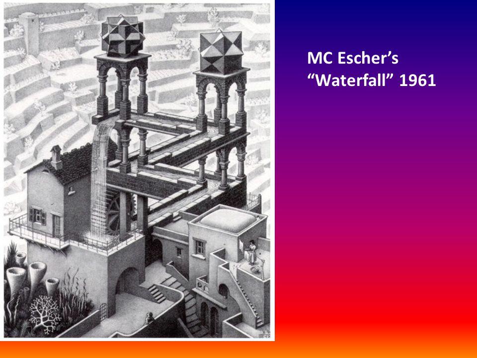 """MC Escher's """"Waterfall"""" 1961"""