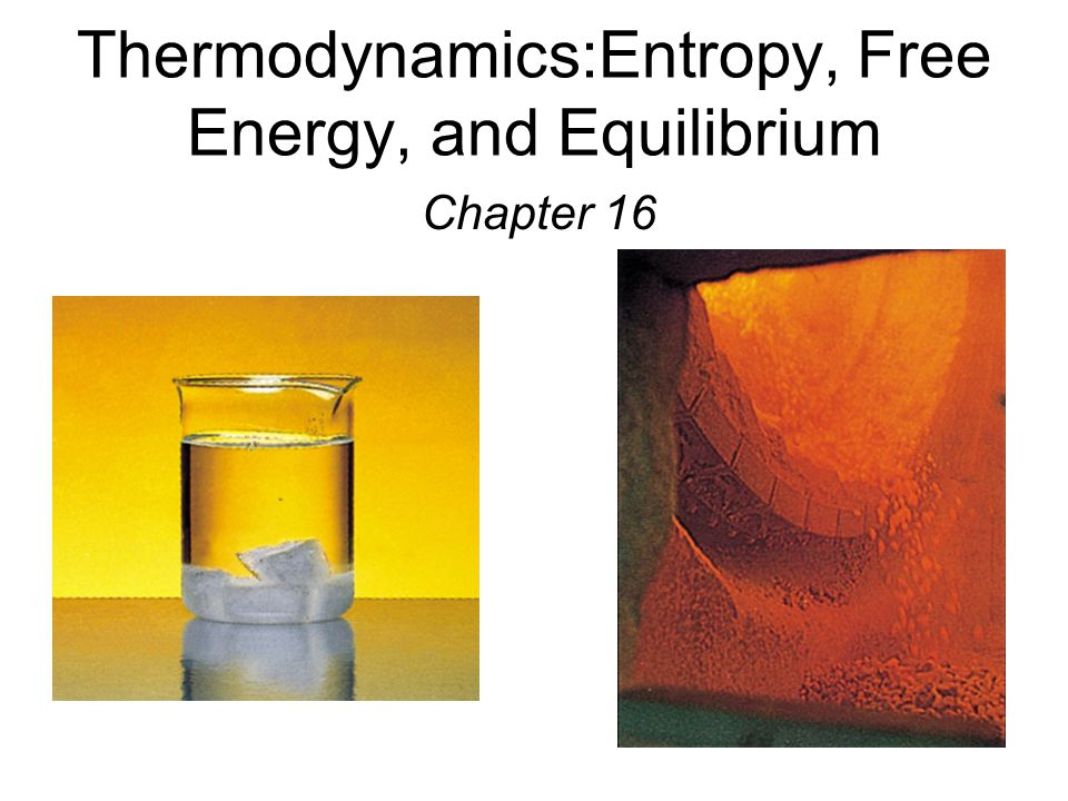 Thermodynamics:Entropy, Free Energy, and Equilibrium Chapter 16
