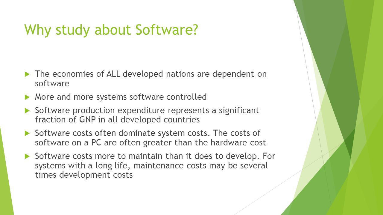 Why study about Software.