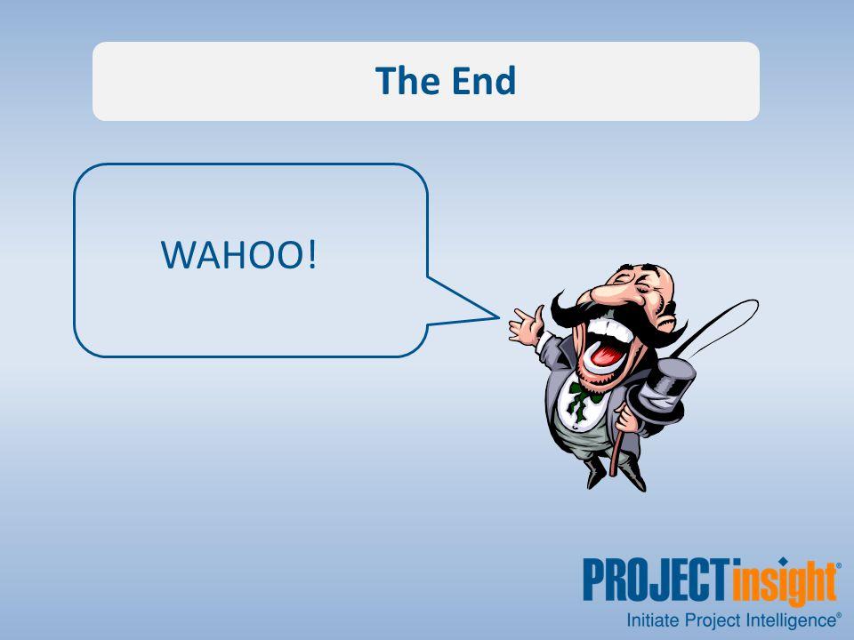The End WAHOO!