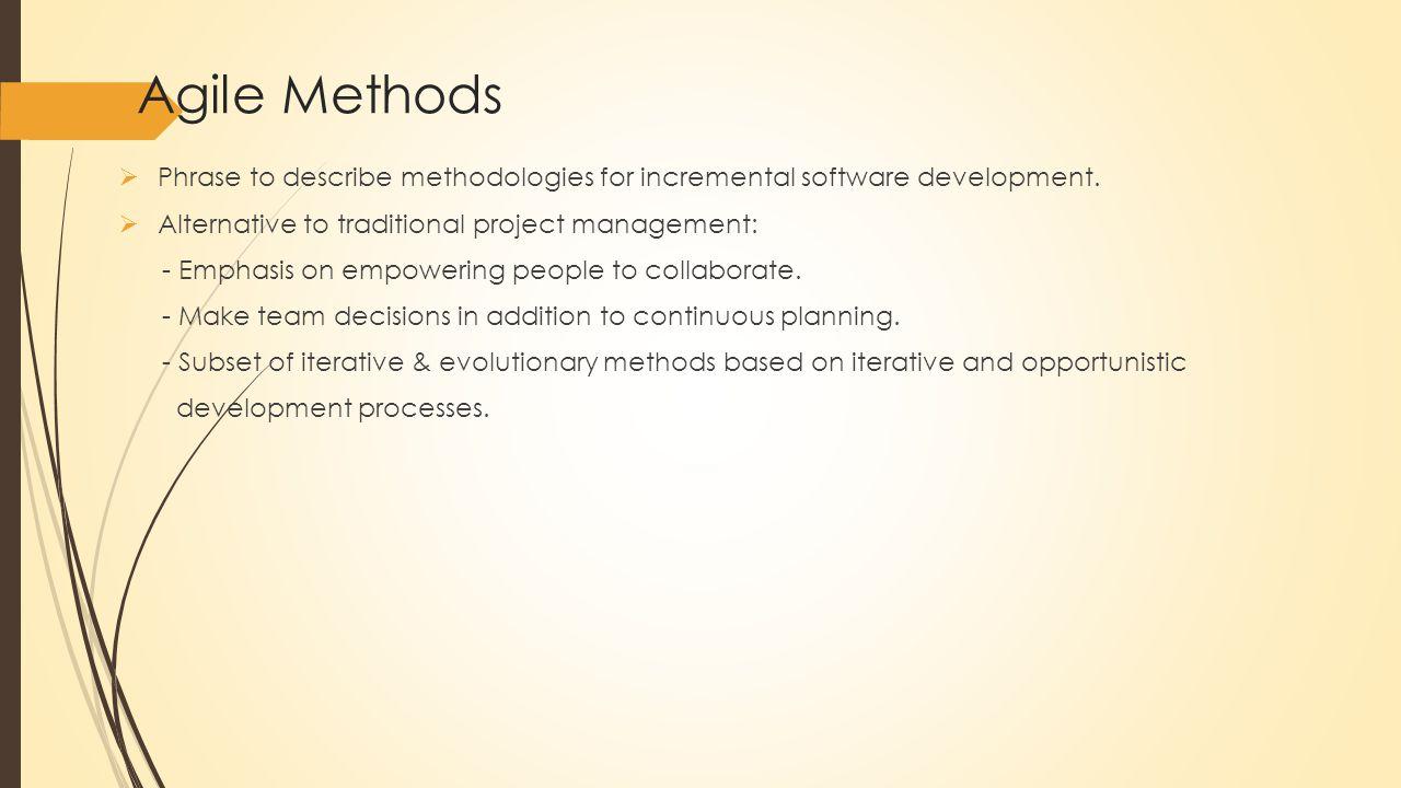 Generic agile development process