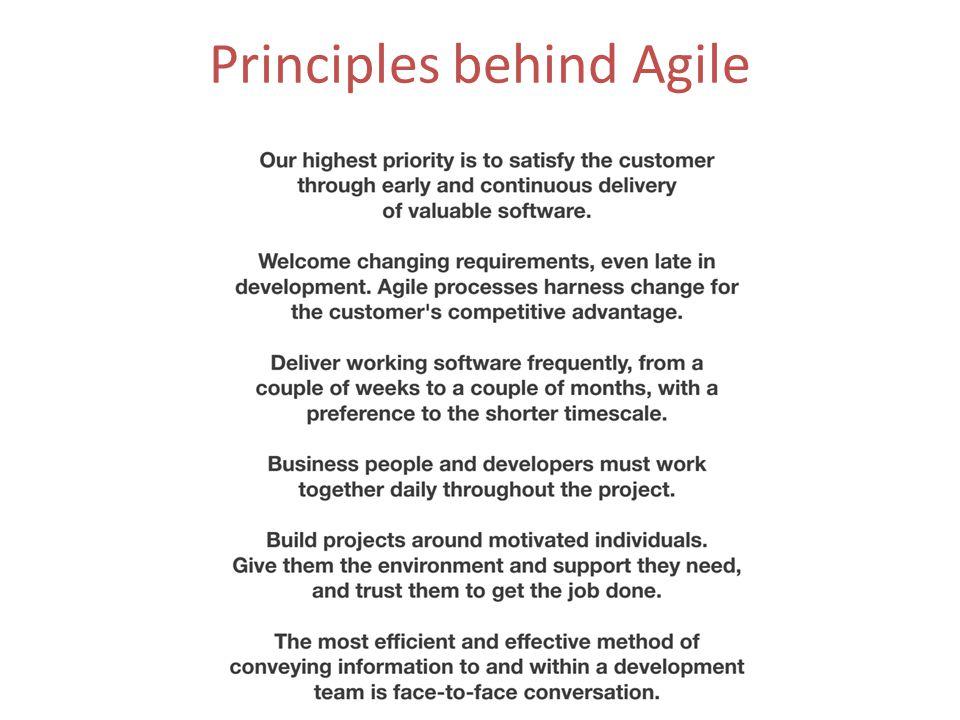 Principles behind Agile